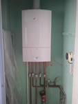 Boiler Installation with Old Controls Left for Customers Operational Comfort