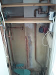 Conventional System with Cylinder and Boiler Exchanged for a Combi Boiler